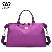 Waterproof Hand Pouch Travel Bag Fashion Ladies Traveling Bags For Women Fitness Handbags Luggage Tote Big Shoulder Bags XA728WB