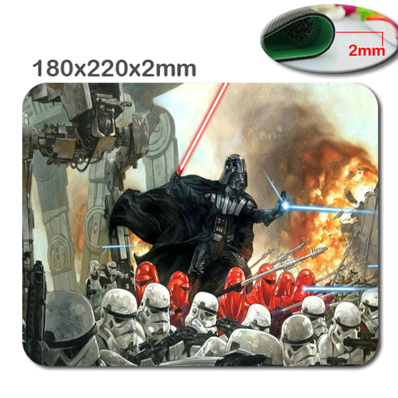 Star War Customized Rectangle Non-Slip Rubber 3D printing gaming rubber durable notebook ...