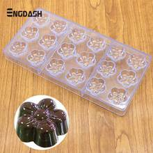 ENGDASH 1pc 3D Chocolate Mold Polycarbonate Christmas Tray Bakeware DIY Pastry Tool For Bar Form Moulds