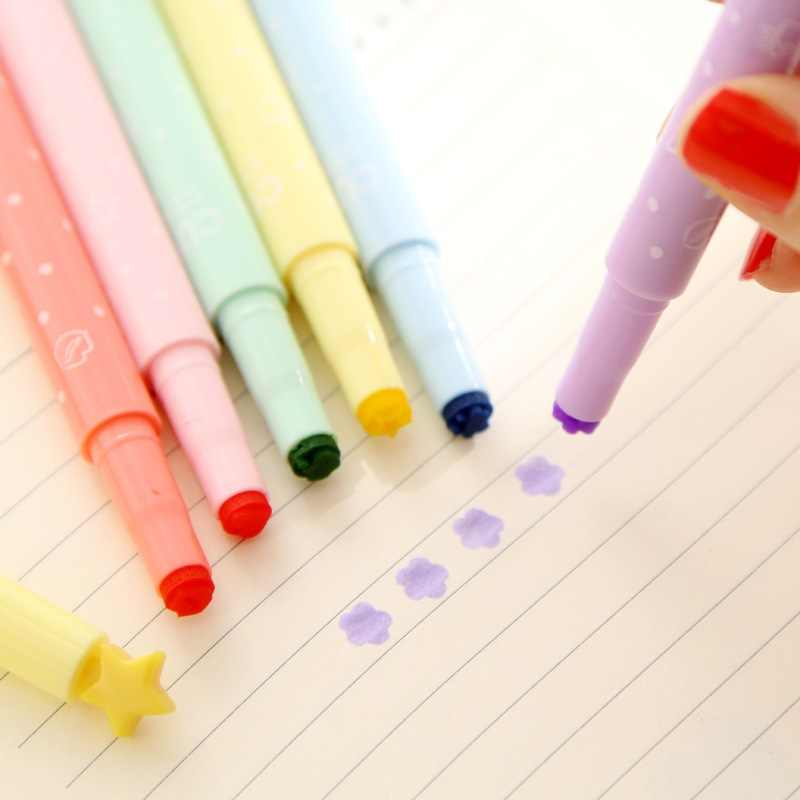 1 ชิ้นดอกไม้น่ารักดาวรักหัวใจเน้นสีสำหรับวาดเด็กโรงเรียนเครื่องเขียน