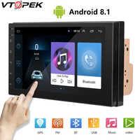 Android 8.1 2 Din autoradio lecteur vidéo multimédia universel Auto stéréo GPS carte Mirrior lien pour Volkswagen Nissan Toyata CR-V