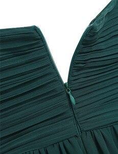 Image 4 - ผู้หญิงจีบชุดเจ้าสาว Elegant Ruched เอวสูงยาวงานแต่งงานอย่างเป็นทางการชุดสำหรับ 2020 Vestido ชุดเจ้าสาว