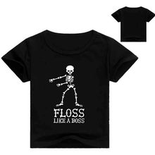 Z&Y 2-16Years Summer Floss Like A Boss Children t shirts Casual Short Sleeve Cotton T-Shirt Unisex T shirt HipHop Toddler Tshirt