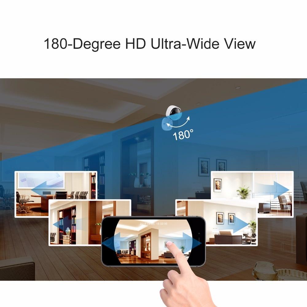 SANNCE HD 1080P Fisheye IP Camera Wireless CCTV Mini Wifi Camara Night Vision IR Cut Home Security Camara Wi-Fi Baby Monitor