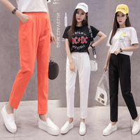 Summer Autumn Newest Female Fashion Cotton Linen Plus Size Solid Casual Harem Pants Women Pencil Pant