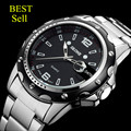 Hot SKONE relojes hombres marca de lujo 7147 reloj reloj relogio masculino reloj de cuarzo militar hombres reloj de acero inoxidable completa