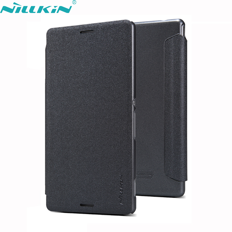 For Sony Xperia M4 Aqua Cover 5 0 E2303 E2333 E2353 Leather Case NILLKIN Quality Hard