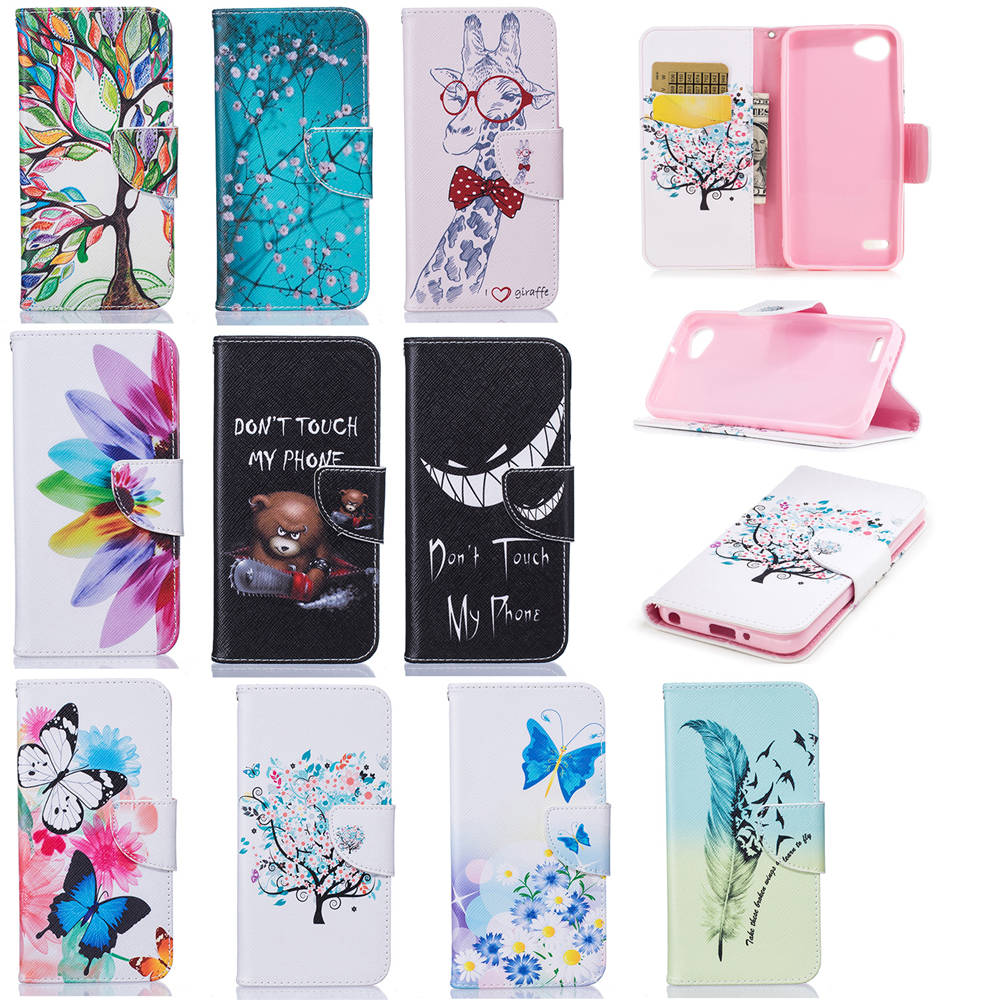 "PU Leather Cases For LG Q6 Plus M700DSN Dual 5.5"" Movie Stand Wallet Covers For LG Q6Plus Q6+ M700TV 64GB TPU Cases Full Housing"