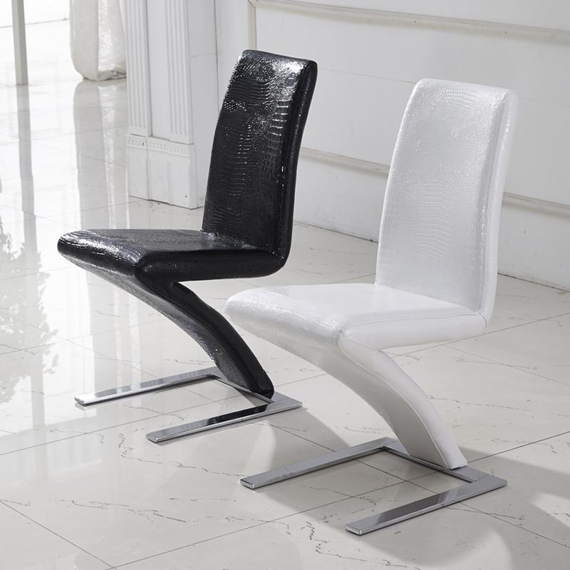 dining room chairs leather comfy computer fashion chiar, pu mermaid style, modern chair, black, white, crocodile ...