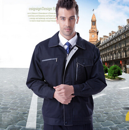 ФОТО FREE SHIPPING Set of Long-sleeve jacket+Pants mechanic uniform electrician uniform outdoor uniform