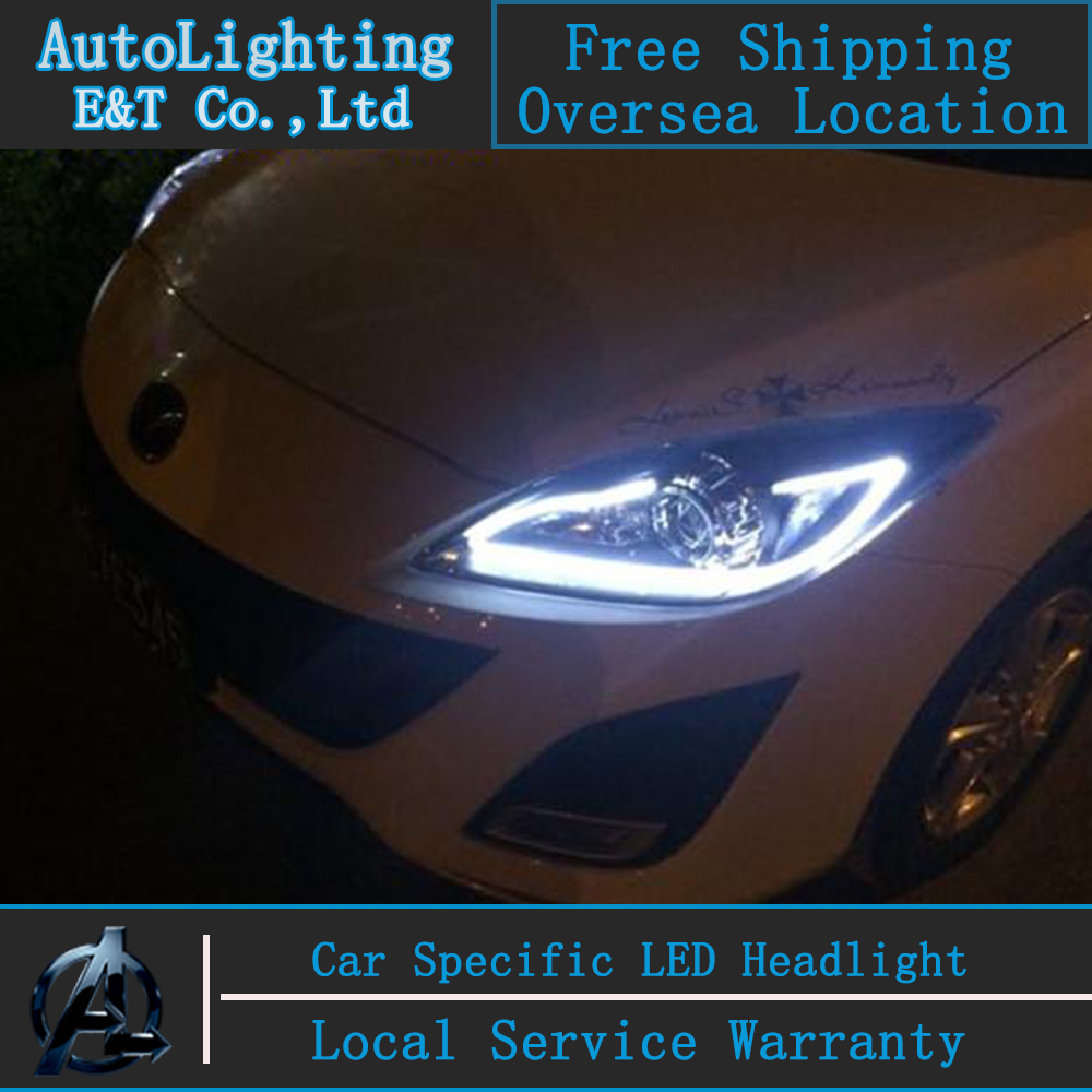 Стайлинга автомобилей для Mazda 3 фара МАЗДА3 Ассамблеи 2010-2013 светодиодные фары DRL сигнала поворота ДХО Н7 с HID комплект 2 шт.