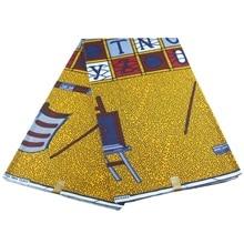 Популярная восковая ткань Африканская восковая печатная ткань 6 ярдов/партия для вечерние платья хлопчатобумажная ткань для шитья