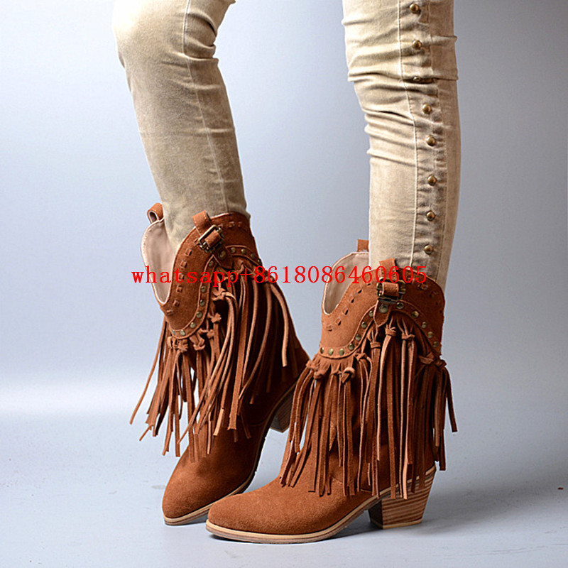 Online Get Cheap Leather Boots Fringe -Aliexpress.com | Alibaba Group