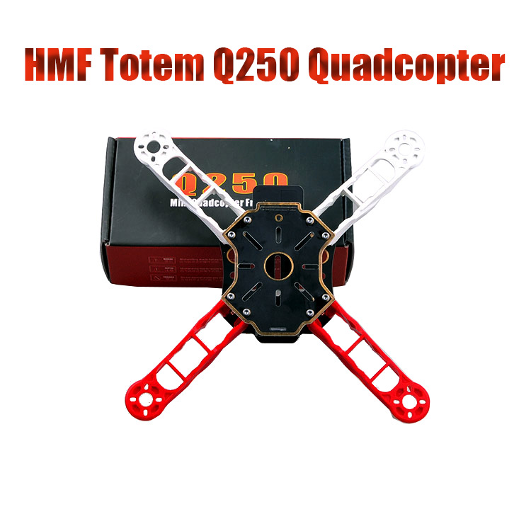 F11068 HMF Totem Q250 250MM Mini Ultralight RC Quadcopter Frame Kit Unassembled As H250 250 DIY FPV Drone Alien Across f330 quadcopter frame kit mini quad frame navigation led light rc fpv frame drone kit support kk mk mwc uav