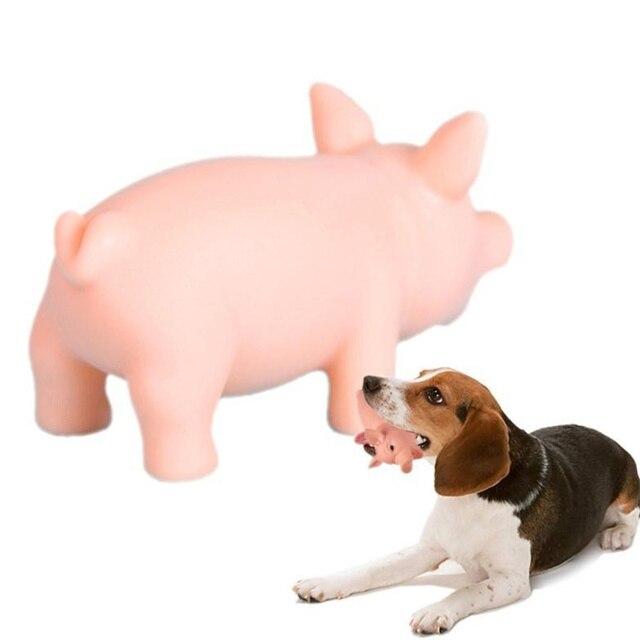 Divertente di Masticazione Del Cane Squeak Giocattoli Piccolo Maiale di Gomma Pe