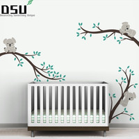 Oversize Removable Koala Tree Branches DIY Wall Decals Wall Sticker Nursery Vinyls Baby Wall Stickers Wall 504 Wallpaper