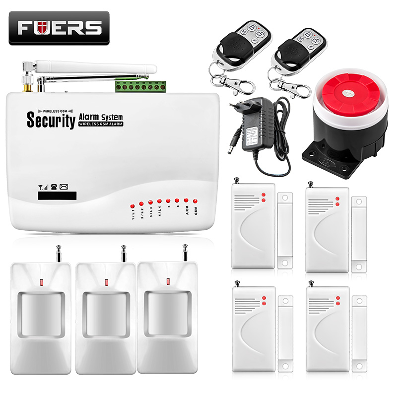 Fuers Wired Wireless GSM Alarm System Home Security Burglar App Control Protection Auto Dialer SMS Call Remote Control Alarm Kit