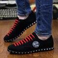 Новые Люди оксфорды Низкие квартиры Дышащие мужчины тренеры Мужчины холст medusa обувь мужчин chaussure homme вождение мокасины zapatos hombre