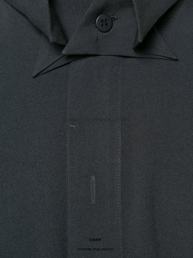 M 6XL! Di alta qualità marchio di abbigliamento maschile 2018 Yamamoto nuovo camicia a manica lunga con collare farfalla - 4