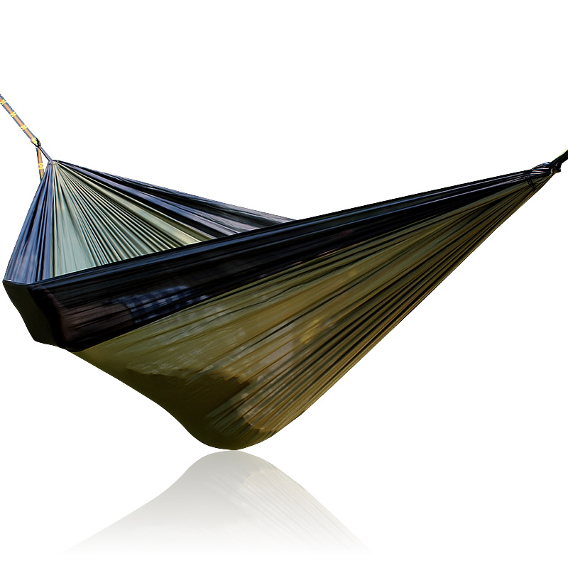 Gray Khaki Gray 300*200cm Big Size Double Person Nylon Parachute Hammock Hamac Outdoor furniture army green khaki double outdoor hammock