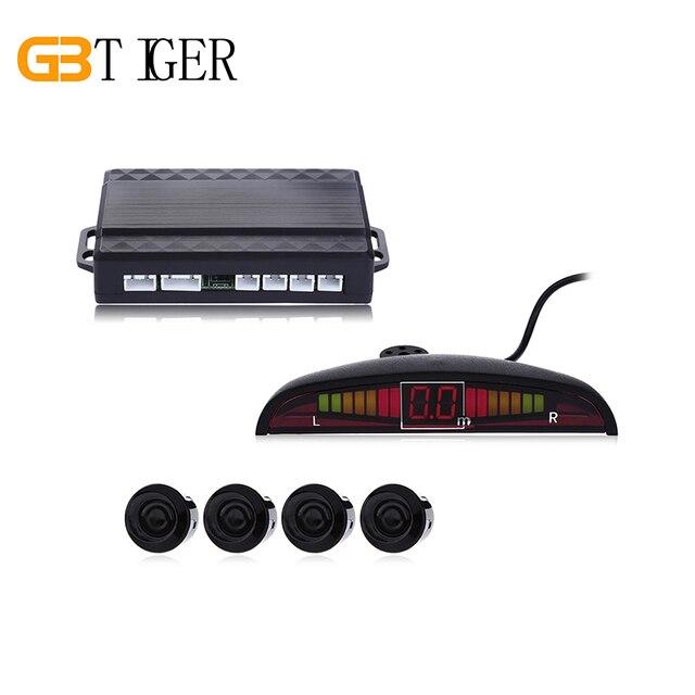 Car Auto Parktronic LED Parking Sensor Kit Display with 4 Sensors Reverse Assistance Backup Parking Alarm Radar Monitor System