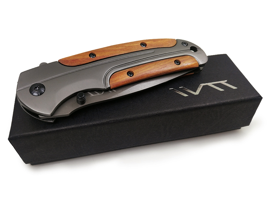 WTT Hunting Folding Pocket Knife Wood Handle EDC Combat Camping Outdoor Titanium Knives Tactical Survival Utility Multi Tool in Knives from Tools