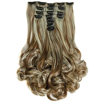 Luxury For Braiding 50cm 8pcs/set 20 Heat Resistant Synthetic Clip Ins Hairpieces Wavy On Hair Extensions