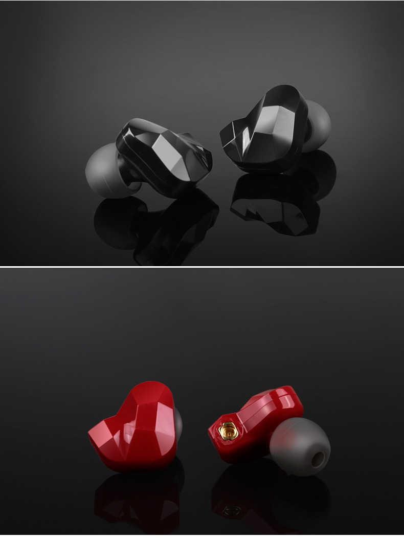 プロフェッショナルハイファイ音楽インイヤーヘッドフォン Moxpad X9 デュアルダイナミックドライバイヤホン内蔵ボックス交換ケーブルデザイン