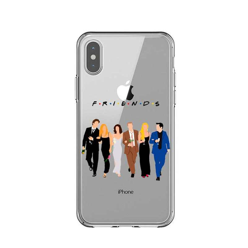 Central Perk café, amigos tv show, ¿cómo te va de silicona suave cubierta TPU casos para iPhone X 7 8 Plus 6 SPlus 5 5S SE XS MAX XR
