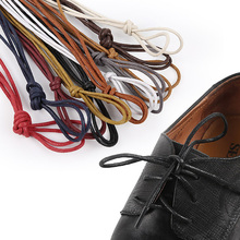 USHINE 1 pair waxed cotton round shoelaces leather waterproof shoelaces for men Martin shoes shoelaces shoelaces