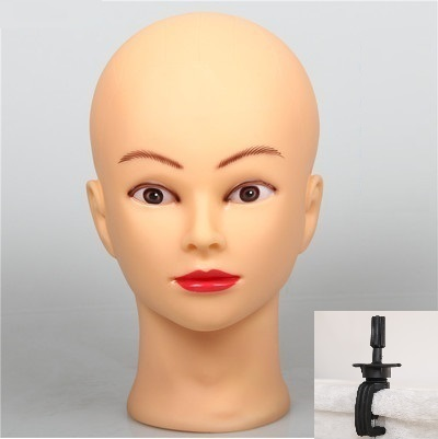"""20"""" Mannequin Wig Head Holder Hairdress Doll Female Mannequin Head Plastic Mannequin Head For Wigs With Stand Practice"""
