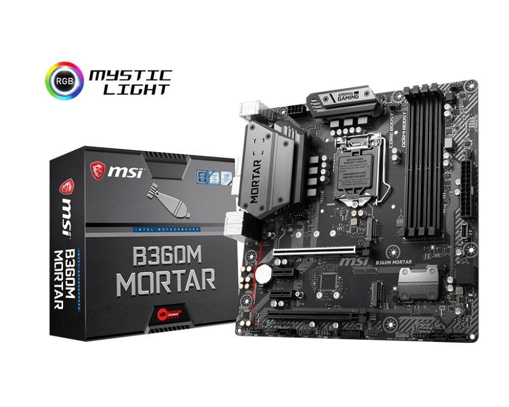 New MSI B360M MORTAR Desktop Motherboard DDR4 LGA 1151 64GB USB2.0 USB3.1 B360 Motherboard Free Shipping