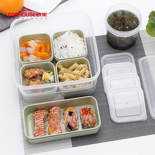 Boîte à Bento Portable PP + PE 6 grilles   Conteneurs alimentaires portables boîte à Bento Portable, école enfant bureau