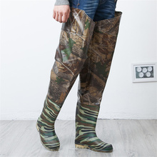 Dichotomanthes End Fishing Waders Boots Over knee Waterproof Leaves Camouflage Fishing Waders Boot Fishing Pants Waterproof Boot