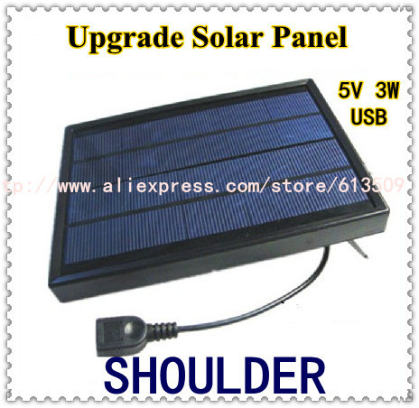 Portable Solar Charger+3W Solar Panel+USB 2.0 Female Output 5V 3W 600mA+Power Supply for Outdoor Activities
