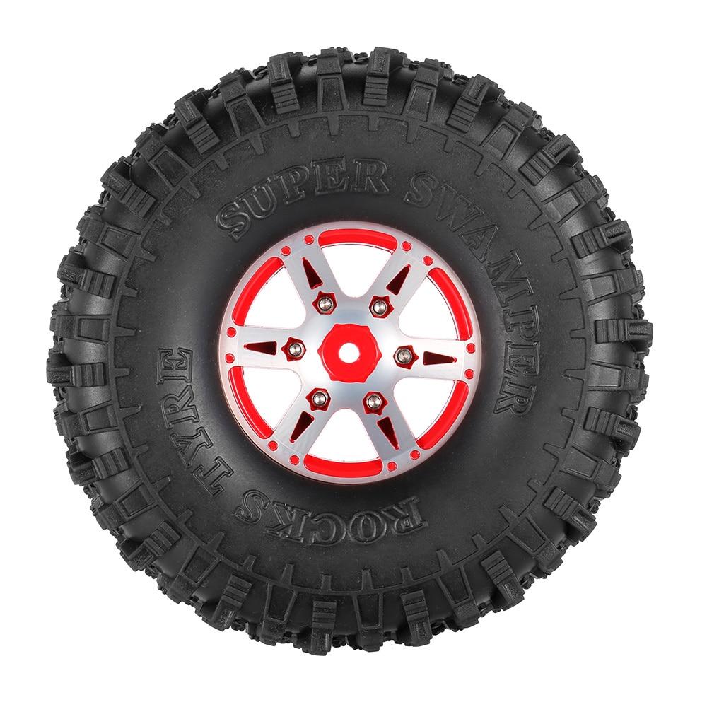 4Pcs AUSTAR AX-5020B 1.9 Inch 1/10 Rock Crawler Tires with Metal Hub for Traxxas Redcat SCX10 AXIAL RC Car 4pcs rc crawler 1 10 wheel rims beadlock alloy 1 9 metal rims rock crawler wheel hub parts for rc car traxxas rc4wd scx10 cc01