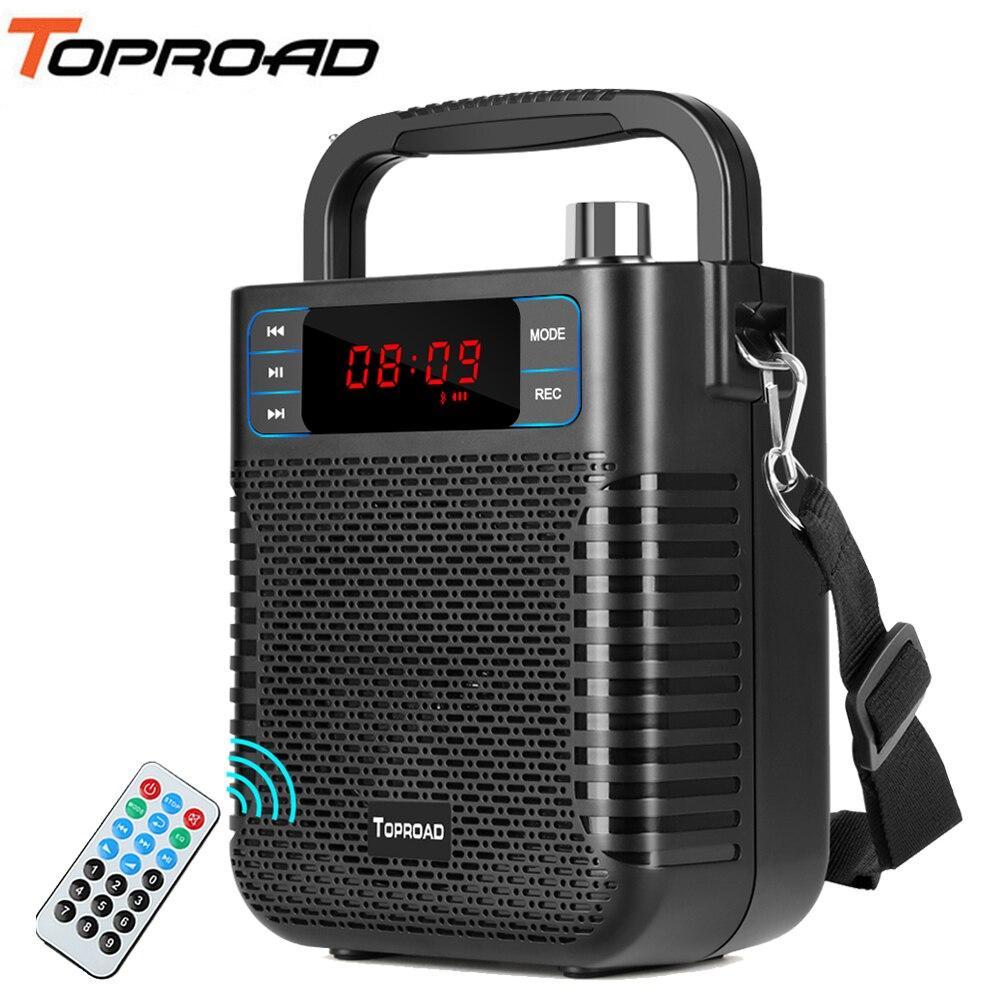 Haut-parleur Bluetooth TOPROAD Subwoofer basse lourde sans fil gros haut-parleurs Boombox boîte de son Support FM TF USB haut-parleur intérieur extérieur