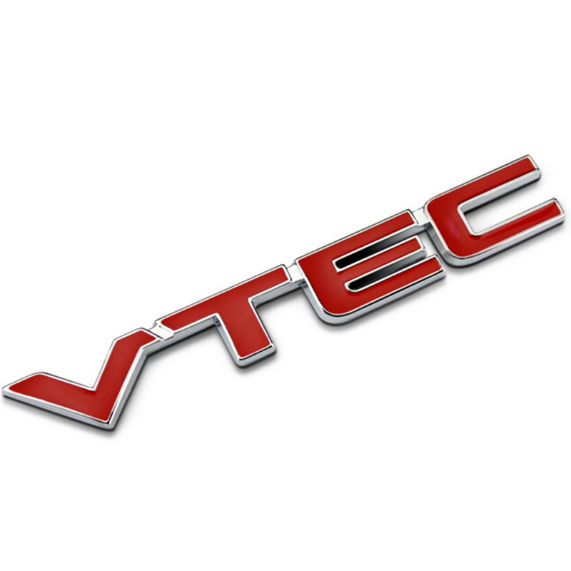 MAYITR High Quality Metal VTEC Logo Emblem Car Body Badge Sticker Decal for Honda Civic Accord Odyssey Spirior CRV Red + Silver новый генератор подходит для honda accord odyssey 2 3l f20b 2 0l oem 31100 p5m 0030