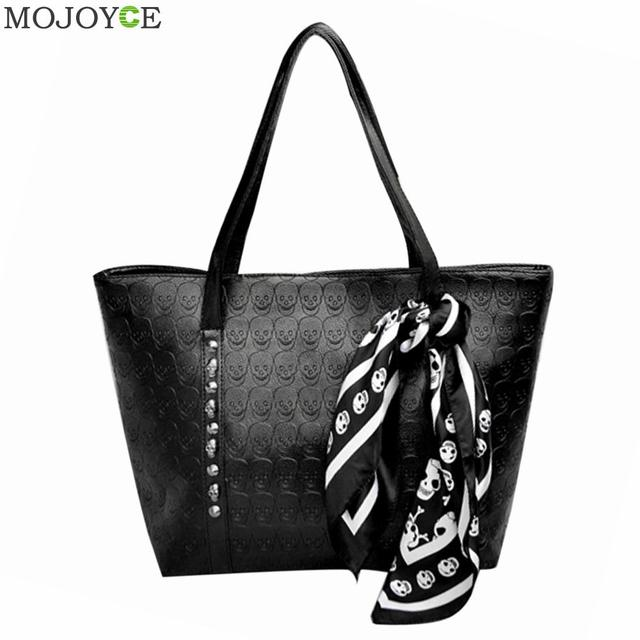 New Fashion Women Leather Handbag PU Ladies Skull Printed Shoulder Bag Large Capacity Bolsa Feminina Women Bags  Sac A Main