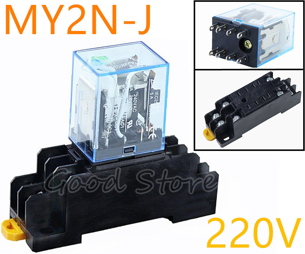 MY2NJ 24V DC Bobina Uso General Rel/é De Potencia 8 pin 5A AC 240V DC 28V