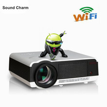 Connect for iPhone/ipad Android4.42 1280*800 Full HD 5500Lumen Led Projector Contrast 4000:1 Digital Video 3D Smart Projector