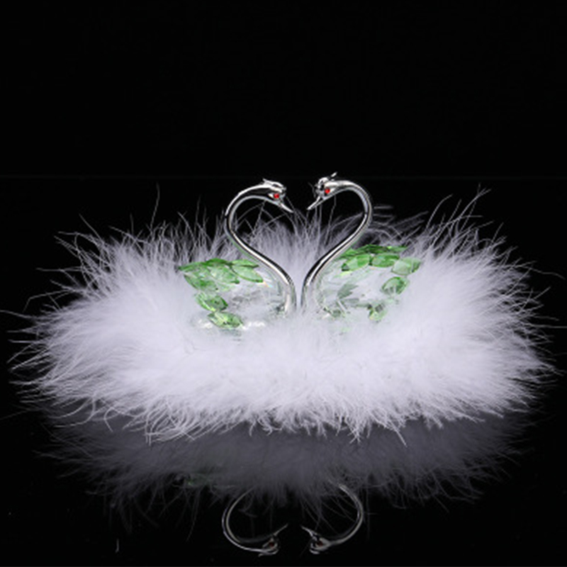 Car jewelry authentic Crystal Swan Pendant Christmas gifts Automobile decorative arts home accessories