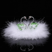 Car jewelry authentic Crystal Swan Pendant Christmas gifts Automobile decorative arts home decorative accessories gifts russian decorative arts