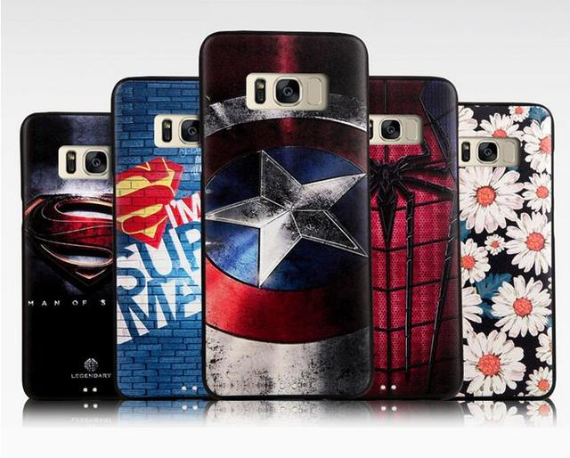 size 40 d27d4 3ce50 US $3.14 15% OFF|For Samsung Galaxy S8 Plus Case High quality 3D Spiderman  Superman Soft TPU back Cover for Galaxy S8 Plus 6.2inch phone case on ...