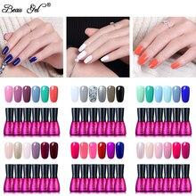 Beau Gel 7ml Soak Off UV Gel Nail Polish 6 pieces/lot Pure Color Long Lasting Gel Varnish Nail Art Manicure Gelpolish Lacquer цены онлайн