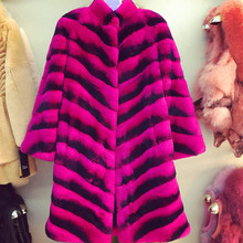 In 2016, the new beaver rabbit hair women's fashion collar red warm fur coat