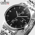 Quartz-Watch Men Original CHENXI Brand Wristwatch Male Clock Stainless Steel Wrist Watch Business Fashion Calendar Watches Men's
