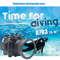 Mcoplus WP A7RIII 40m/130ft Underwater Camera Housing Case For Sony A7RIII Camera 20 70mm Lens