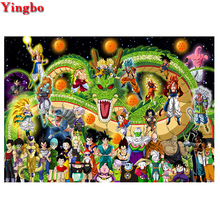 5D DIY Diamond painting Dragon Ball Z full Square round Diamond embroidery Cross stitch 3d pictures Mosaic Rhinestones Painting