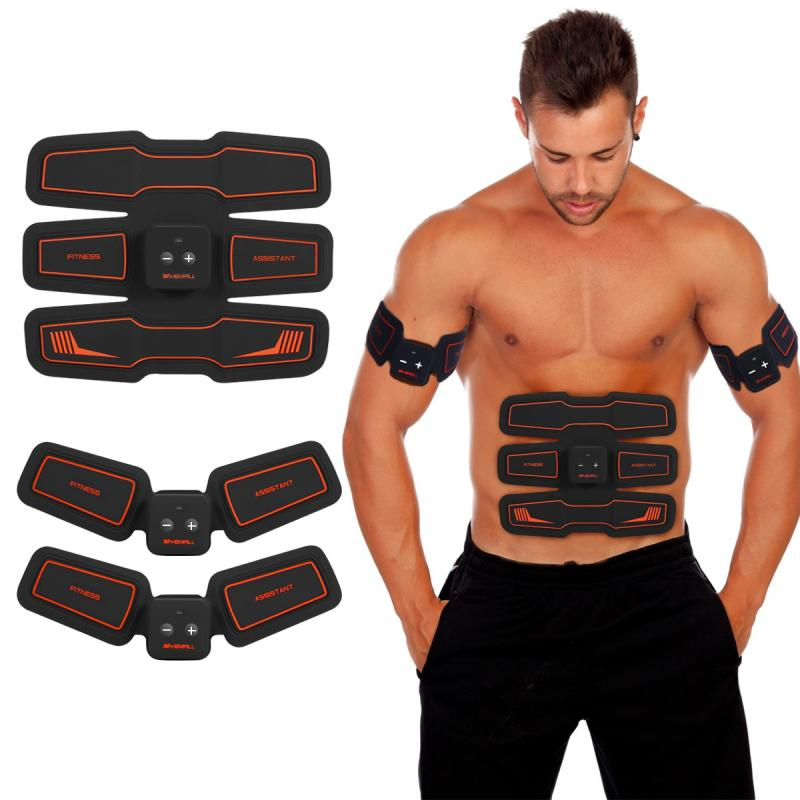 Electronic Abdominal Muscles Stimulator Vibration Pad Belt System HURRISE Wireless Abs Muscle Body Slimming все цены